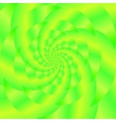 Green Spiral Background Fractal Pattern vector image
