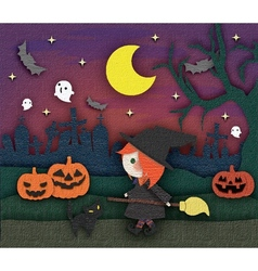 Halloween cute card vector