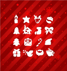 hand draw christmas icon vector image