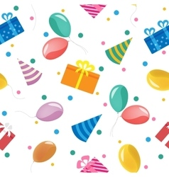 Happy Birthday Seamless Pattern with Gift Boxes vector
