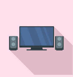 home cinema system icon flat style vector image