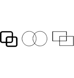 Intersection icon on white background vector