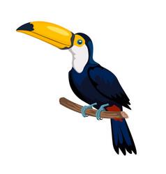 Isolated cartoon toucan icon mexican forest bird vector