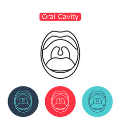 line icon mouth with teeth vector image