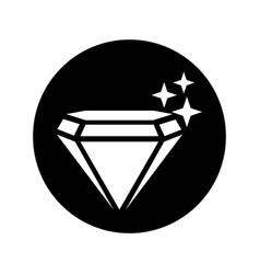 Mine diamond isolated icon vector