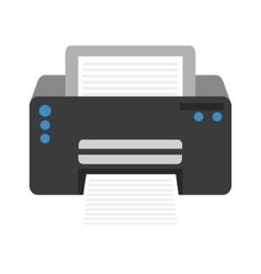 Modern printer technology vector image