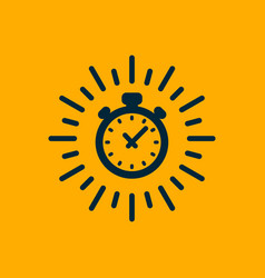 monochrome timer icon fast delivery express and vector image
