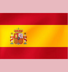 national flag spain beautiful vector image