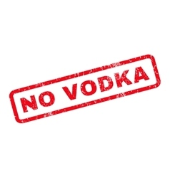 No Vodka Rubber Stamp vector image