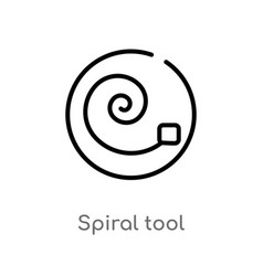 Outline spiral tool icon isolated black simple vector