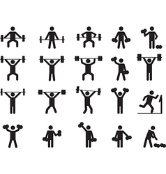 Pictogram people with weights vector