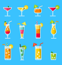 pina colada juice mojito and other various vector image