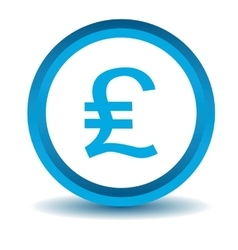 Pound sterling icon blue 3D vector image