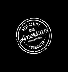 Premium product stamp logo design vector