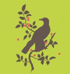 Raven on branch vector