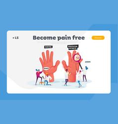 Rheumatoid arthritis landing page template tiny vector