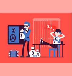 safecracking man in office vector image