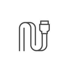 sata connector line outline icon vector image
