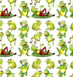 Seamless frog vector image