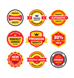 set retro business badge set vector image
