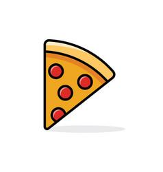 Slice pepperoni pizza vector