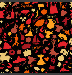 spain seamless pattern for your design vector image