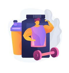 Sport nutrition concept metaphor vector