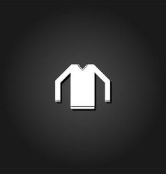 sweater icon flat vector image