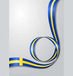 Swedish flag wavy background vector