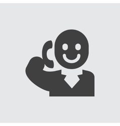 Talking on phone man icon vector