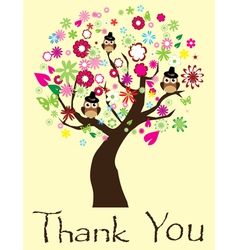 thank you tree vector image