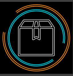 Think out of box concept line icon vector