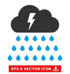 Thunderstorm Rain Cloud Eps Icon vector