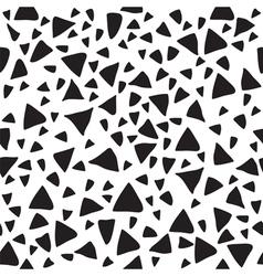 Triangle geometric seamless pattern Tribal hand vector