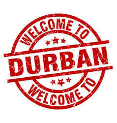 Welcome to durban red stamp vector