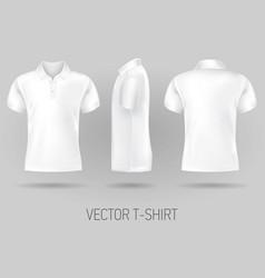 white short sleeve polo shirt design templates vector image