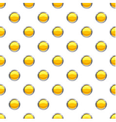 Yellow button pattern vector