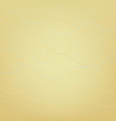 Abstract yellow background with wavy lines vector image