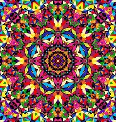 Bright seamless kaleidoscope pattern vector