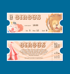 circus show entrance tickets template vector image
