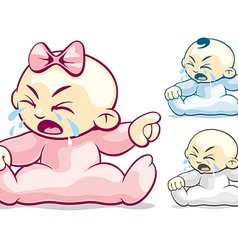 Cranky and Crying vector image