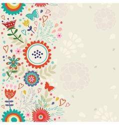 Elegant floral background vector image vector image