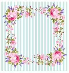flower frame for invitation card vector image