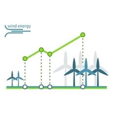 green energy diagram wind turbines vector image vector image
