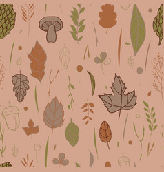 autumn pattern with the image of leaves vector image