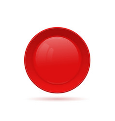 blank round button for website 3d glass button vector image