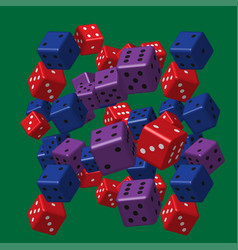 color dice pattern vector image