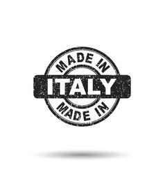 made in italy stamp on white background vector image vector image