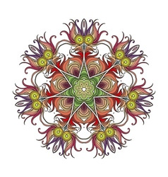 mandala Mehndi lace tattoo Art Nouveau weave vector image