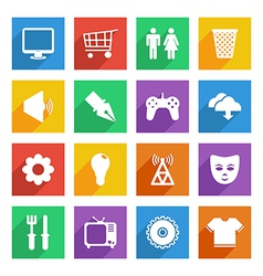 social media icons set 2 vector image
